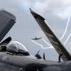 Sea Fury smoker with Skyraider