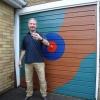 Colorful garage door