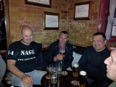Our friends from Croatia at the only place that serves Spitfire.