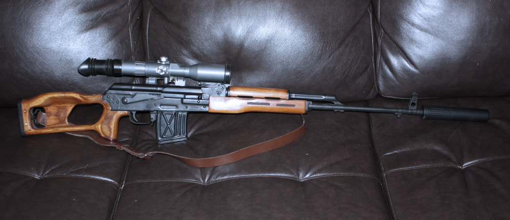 Romanian PSL with RSA adjustable trigger, 8X Russian scope and AAC 762-SDN-6 silencer.